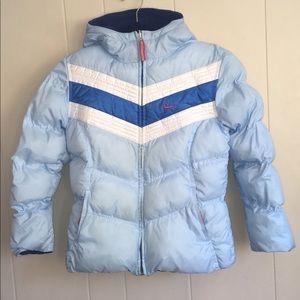 Nike Puffer Coat Reversible Fleece Jacket Vtg